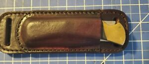 Buck knife friction sheath only. For 110, real leather. Cross draw.