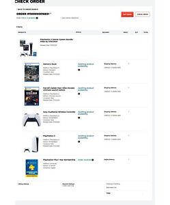 PS5 GAMESTOP SONY PLAYSTATION 5 STARTER BUNDLE 100% ...
