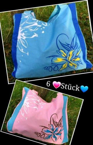 Restposten 6x Taschen Schultertaschen Einkaufstaschen Strandtaschen Saunatasche