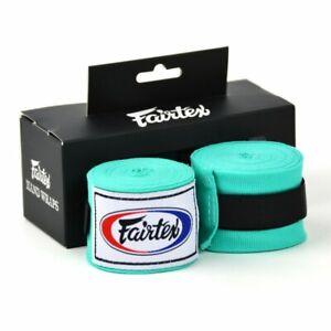 Fairtex-Bandes-de-Mains-Vert-Menthe-4-5M-Extensible-Muay-Thai-Boxe-Kickboxing-K1