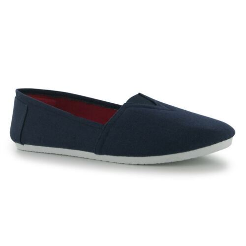 MENS BLACK DARK BLUE BOYS PULL ON CANVAS SHOES LIGHTWEIGHT INSOLE UK SIZE 7//40