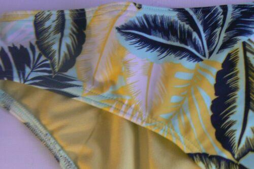 M/&S Slip A Vita Bassa Bikini Bottom Palm Stampa UK Taglia 8 18 20 nuovi contrassegni