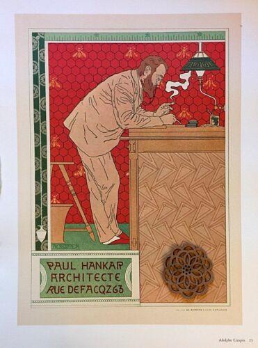 "VTG Art Deco Print Ad Litho 9.5/"" x 12.25/"" ** SEE VARIETY"