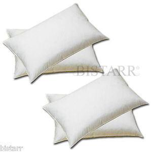FOUR PACK NATURAL WHITE HUNGARIAN GOOSE FEATHER & DOWN LUXURY PILLOWS PAIRS NEW