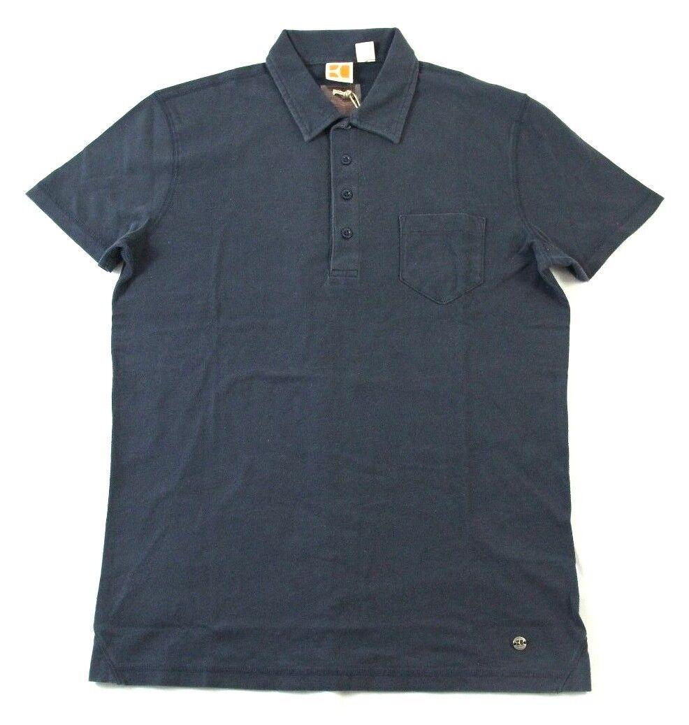 NWT Hugo Boss Men's Dark bluee 4 Button Polo Shirt Sz. XL Tag   Purple