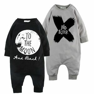 fdbf78f49 Newborn Kids Baby Boy Infant Warm Cotton Outfit Jumpsuit Romper ...