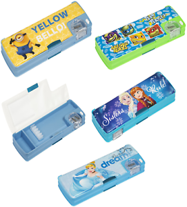 Minions Hard Shell Double Sided Kids Pencil Case Stationary Box,Holder Gift 3+Y