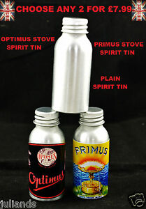 PRIMUS STOVE SPIRIT TIN BOTTLE METHYLATED SPIRIT TIN BOTTLE