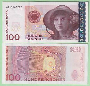 NORWAY 100 KRONER (2006)  P-49 UNC BANKNOTES
