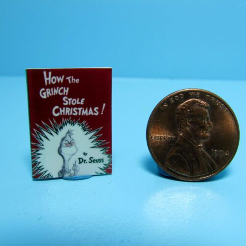 Dollhouse Miniature Replica of Book Dr Seuss How The Grinch Stole Christmas B086