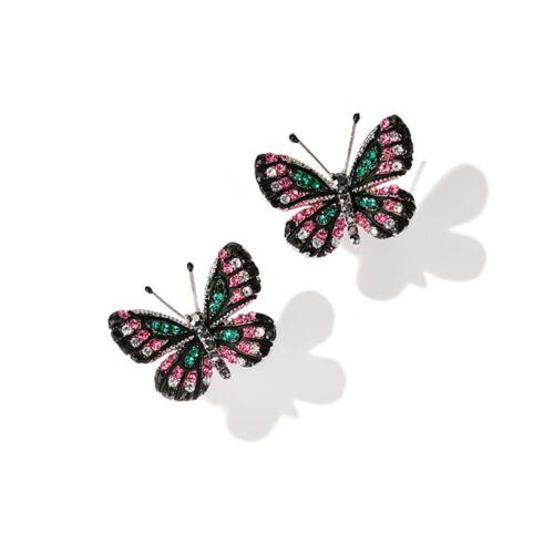 Fashion Mignon Femmes Filles Strass Papillon Oreille Goujon Boucles D/'oreilles Bijoux Cadeau