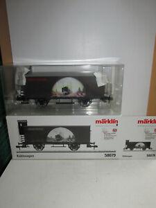 Marklin-58079-Pista-1-Vagones-de-Mercancias-Refrigerado-en-Embalaje-Original