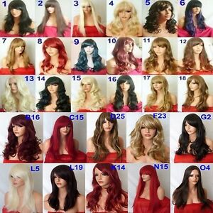 black-brown-blonde-wig-long-ladies-wig-wavy-straight-curly-with-fringe-cheap-wig