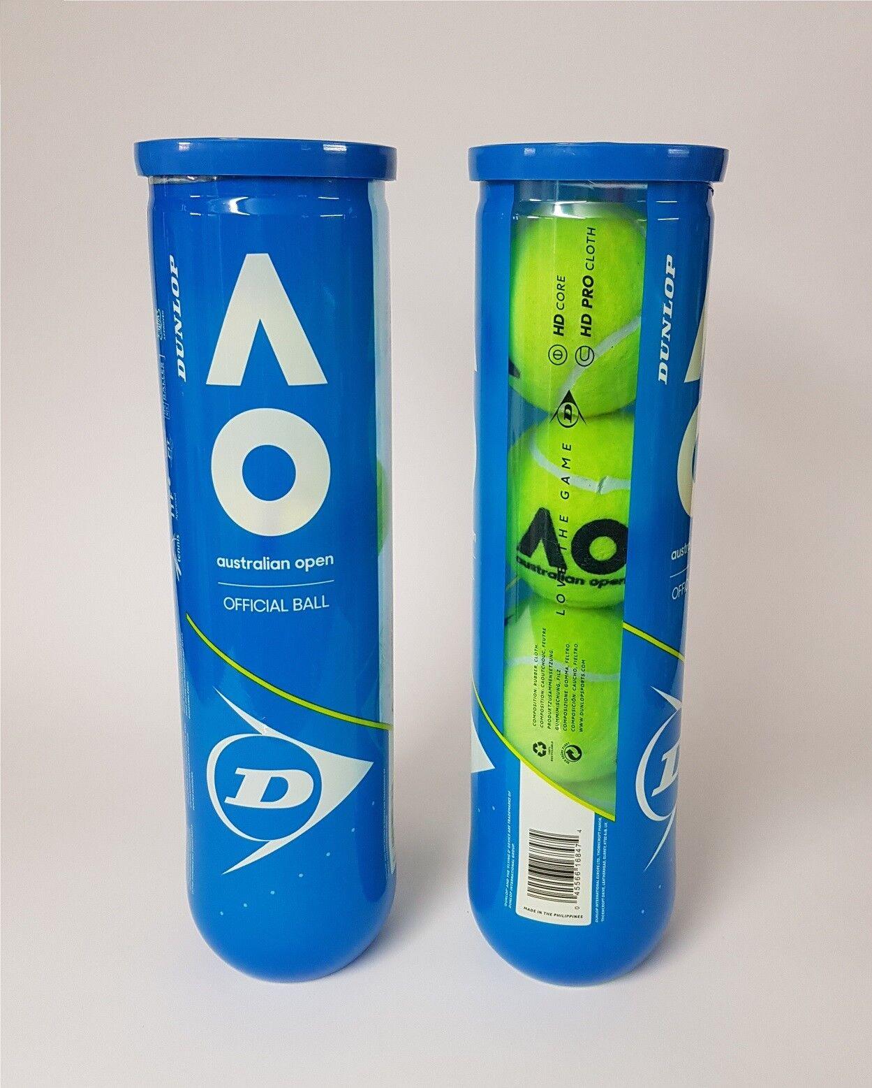 Dunlop Australian Open Official Ball Tennisbälle - NEU NEU NEU - 8x 4er Dose (32 Bälle)  | Charmantes Design  | Großhandel  | Gewinnen Sie hoch geschätzt  726554