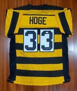 Details about Merril Hoge Signed Autographed Bumblebee Jersey Pittsburgh Steelers JSA