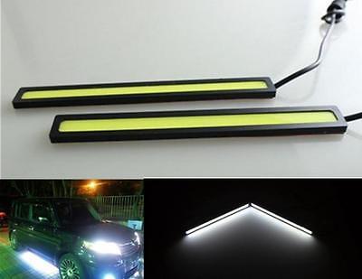 2x Super Bright COB Car LED Lights 12V For DRL Fog Driving Lamp Waterproof  TIAU