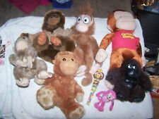Ultimate Monkey/Gorilla Collection Stuffed Animals & Clapping Monkey Candy 8 pcs
