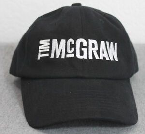 TIM MCGRAW BLACK BASEBALL CAP HAT TOUR CONCERT COUNTRY FAITH HILL ... 7a0ed28a79ff