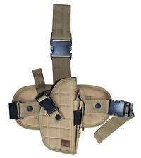Desert Tan Tactical Right Hand Drop Leg Gun Holster BB Air Handgun Pistol 207TR