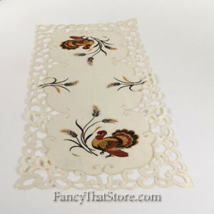 Thanksgiving-Embroidered-Turkeys-amp-Scrolls-Table-Runner-36-by-Wimpole-Street