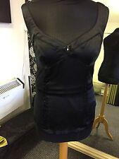 Guess Jeans Vest Top Black Silk/Elastane