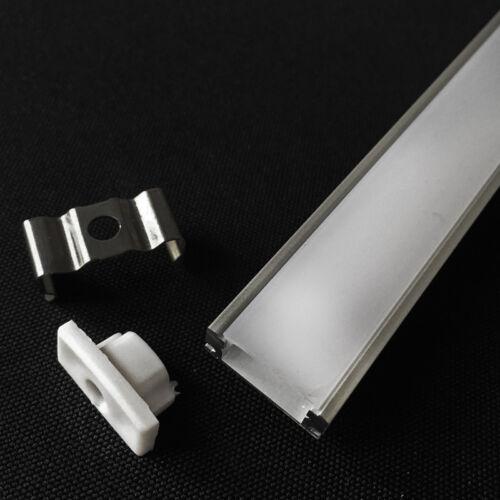 10pcs 0.5M U-Style Thick Aluminum Case Holder /&Milk Cover For Rigid LED Strip