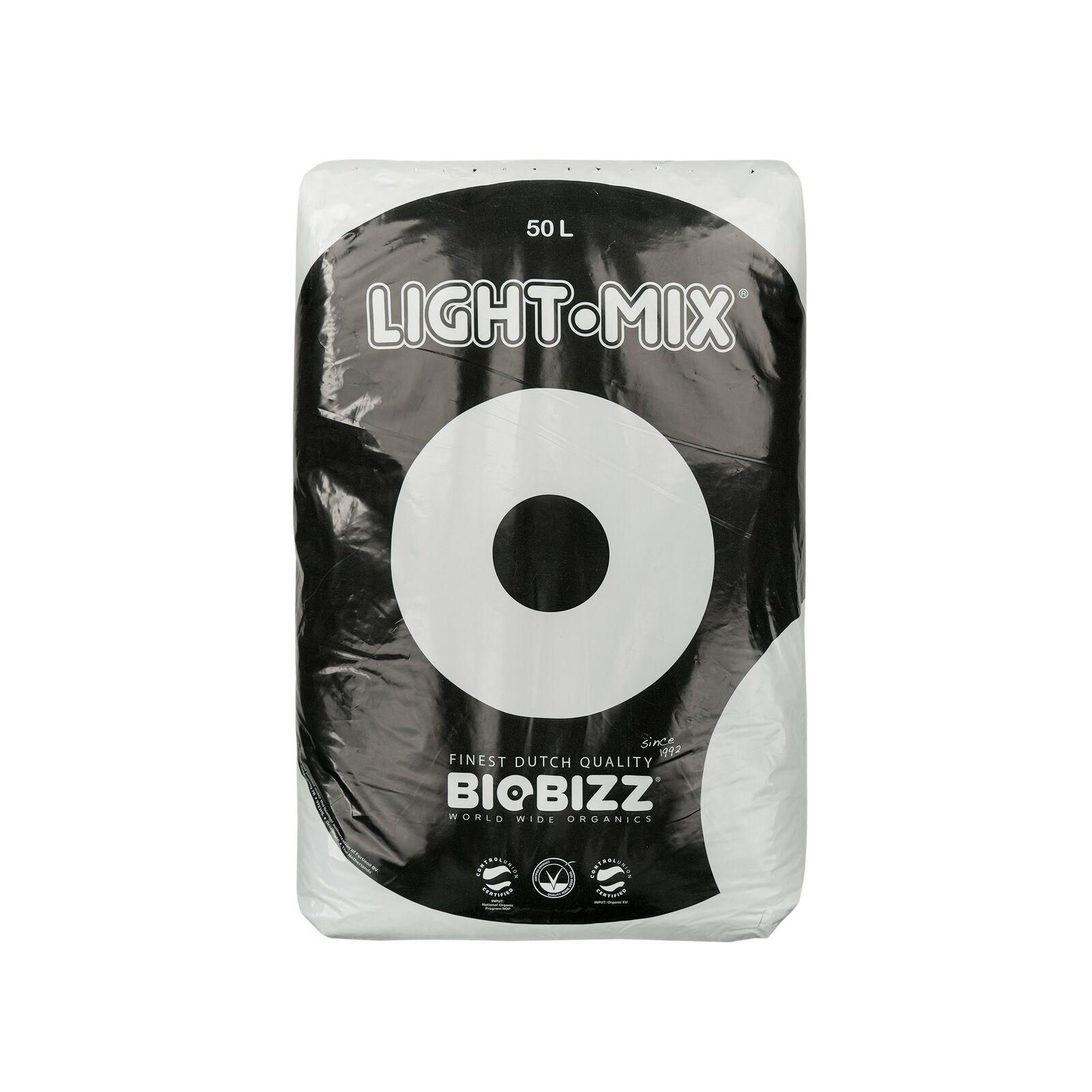 (0,30 /L) BIOBIZZ LIGHT MIX 50L Potting with Perlite Grow Flowers Earth