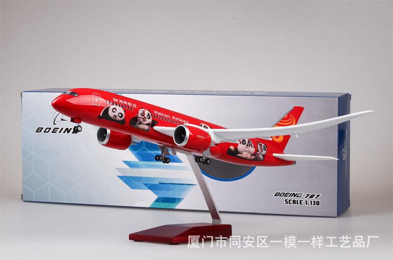 1 130 Hainan Airlines B787 rot Passanger Plane LED Light Simulation Airplane