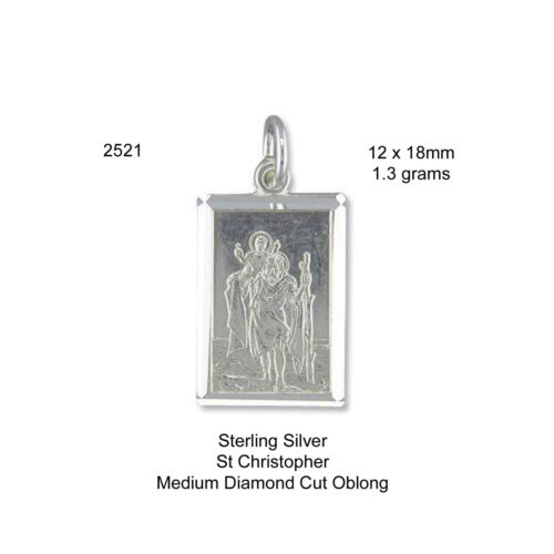 /& SIZE 23 925 Sterling Silver St Christopher//Pendant//Chain//box CHOOSE DESIGN