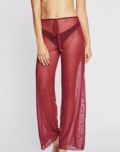 7dff5bfcfc5acf Jordan Taylor Mesh Swim Cover-Up Pants Wine Red Stretchy NWT 59
