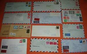 Japan-12-Belege-Briefe-Luftpostbriefe-Express-R-Brief-Bahnpost