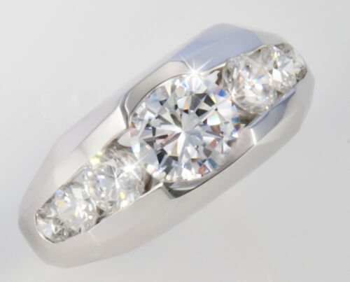 1.5 ct Men/'s Ring 2.5 ct tw  Top Vintage Russian Quality CZ Extra Brilliant S 8