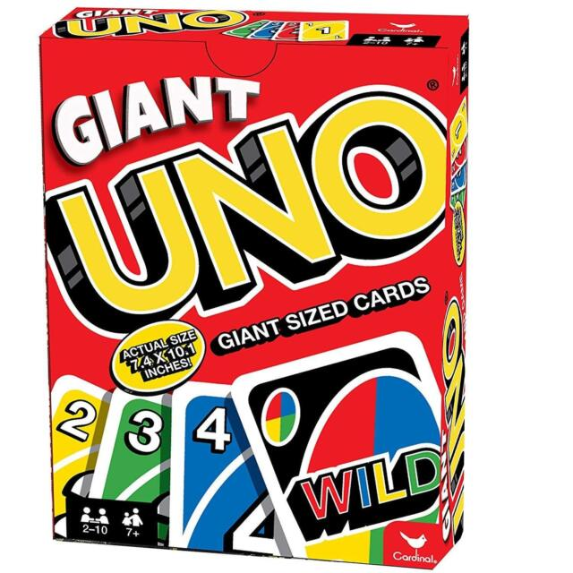 Giant Uno Playing Cards Family Party Fun Games Friends Jumbo King Size Card  Game