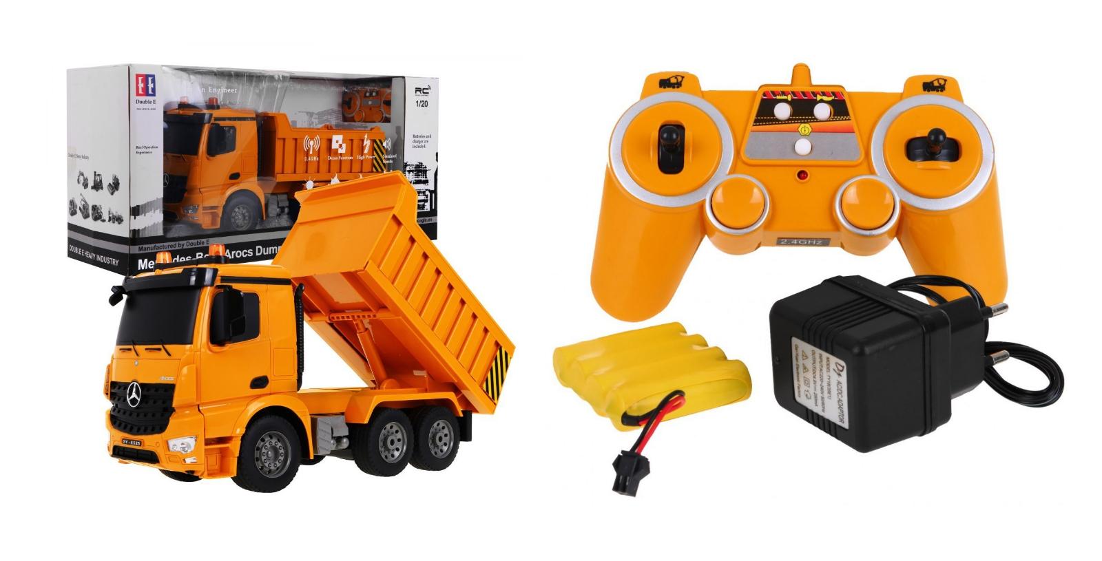 MERCEDES-BENZ AROCS 2.4G RTR 1 20 Camion Dumper Veicoli Costruzione NUOVO