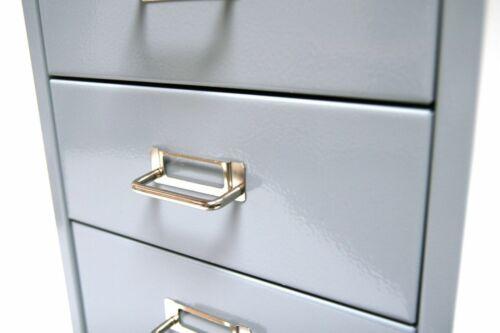 6 Schubladen silber Stahlschrank Bürocontainer Büroschrank Schubladenschrank