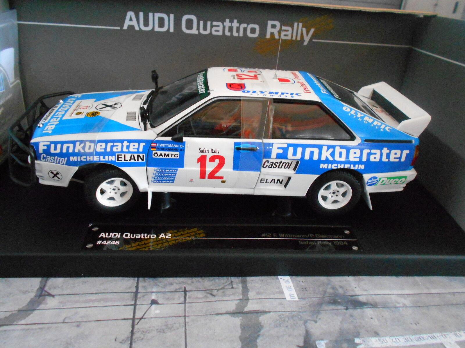 AUDI quattro rallye a2 safari  12 wittmann wav Diekmann funkberater sunstar sp 1 18