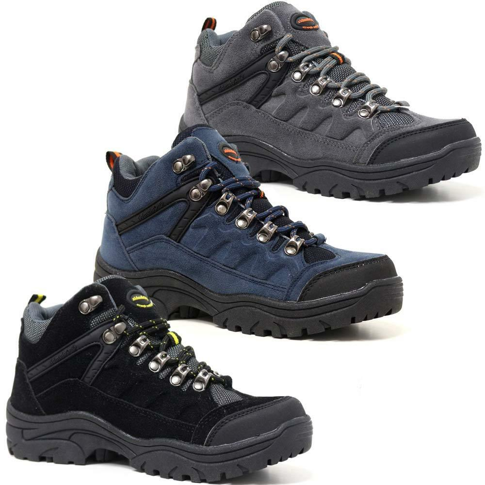 Ladies Womens Boots Leather Suede Walking Hiking Trail Ankle Boots Womens Trainers Shoes Size 5733f1