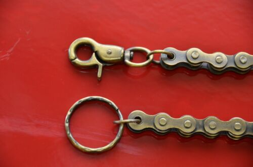 Laiton Moto Chaîne Bikers Wallet Chain Keychain Trigger Fermoir