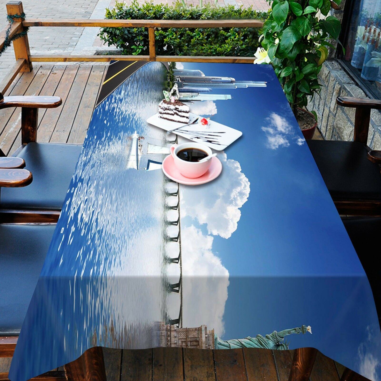 3D City River9 Tablecloth Table Cover Cloth Birthday Party Event AJ WALLPAPER AU