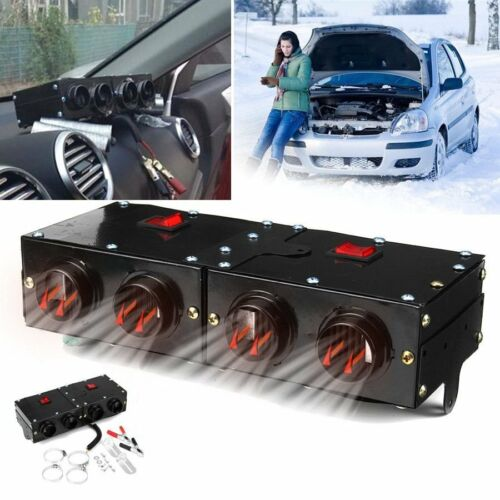 150W/300W Portable Car Heating 4 Hole Dry Heater Fan DC 12V Defroster Demister