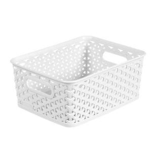 Details About Y Weave Small Storage Bin White Room Essentials153