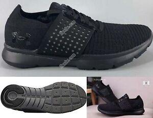 finest selection b28e8 f7d36 Details about Under Armour men's $150 Speedform Slingwrap Running Shoes  Black-Black size 11