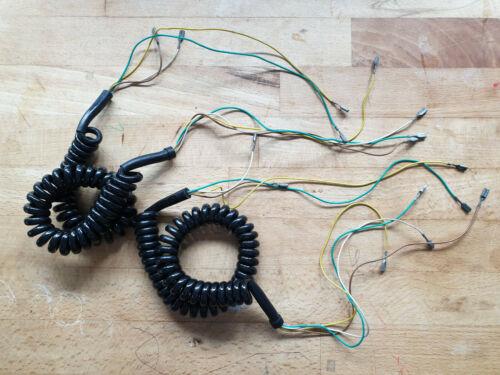 180 cm 2 Stück DDR Telefon Spiralkabel 4 adrig Telefonkabel Telefonhörer 34 cm