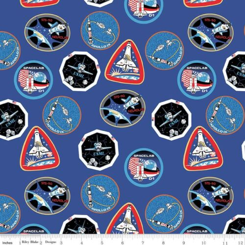 Riley Blake Out of this World with NASA C7800 Black Main Quilting