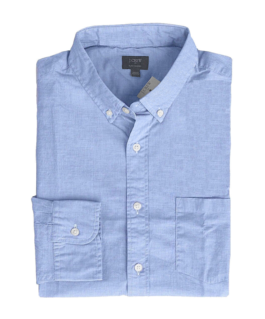 J.Crew Factory - Men's L - Regular Fit - bluee End-to-End Washed Cotton Shirt