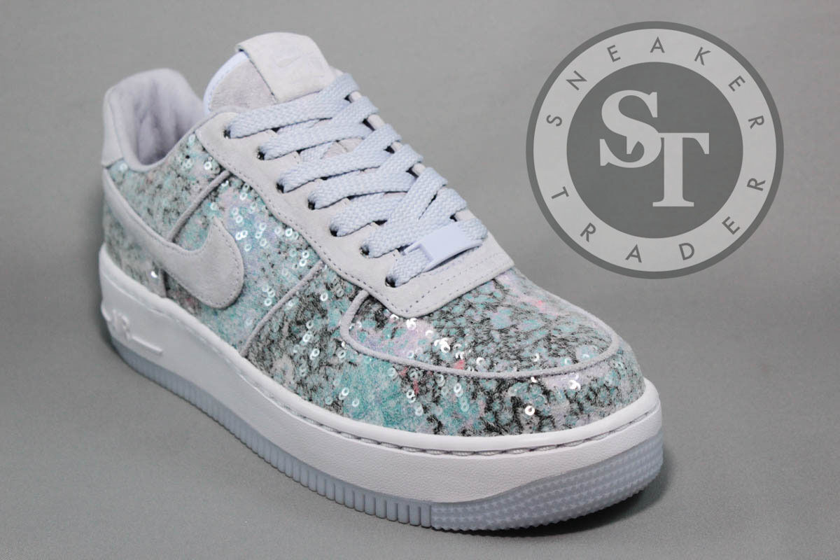 NIKE WOMEN'S W AIR FORCE ONE AF1 UPSTEP 35 917589-500 GLASS SLIPPER DS SIZE: 8.5