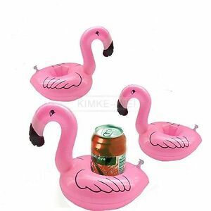 5x flamingo schwimmender aufblasbar getr nkehalter pool badespielzeug halter neu ebay. Black Bedroom Furniture Sets. Home Design Ideas