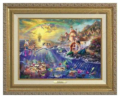 Thomas Kinkade Little Mermaid 12 x 16 Classic (Gold Frame)