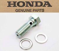 Genuine Honda Banjo Oil Bolt & Washers Hydraulic Line Joint 70-86 (notes)m90