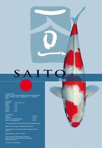 Saito Basic Koi Food, Nourriture de printemps, Koi alimentaire minéral, couleur de peau 15kg 5mm